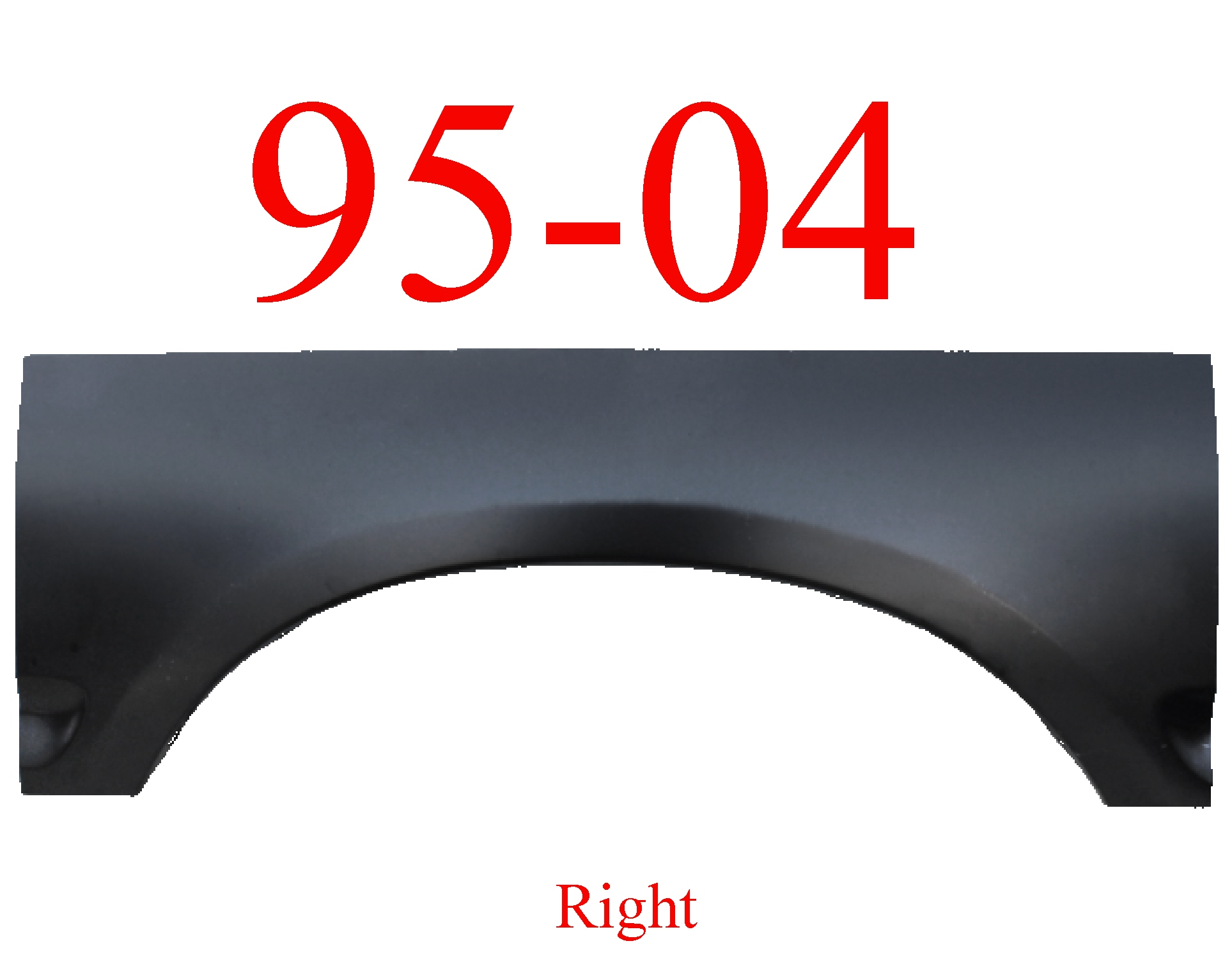 95-04 Toyota Tacoma Right Upper Arch Panel